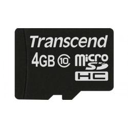 Memory card Transcend microSDHC 4GB MLC, clasa 10