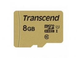 Memory card Transcend USD500S MicroSDHC 8GB, Casa 10 + Adaptor SD