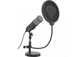 Microfon Natec Genesis Radium 600, Black