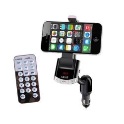 Modulator FM Akai FMT-8118BT cu suport telefon, Black