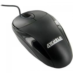 Mouse Optic 4World 06709, USB, Black