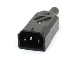 Mufa AC tata IEC320 C14 250V AC 10A EL-C14M-BU