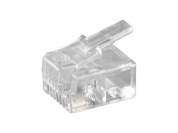 Mufa RJ11 (6P4C) pentru cablu plat,  HCT50250