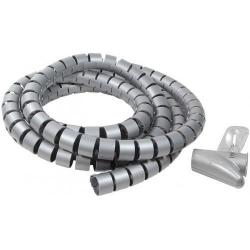 Organizator cabluri Logilink KAB0013, 2.5m, Silver