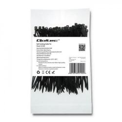 Organizator cabluri Qoltec 52190, 100buc, Black