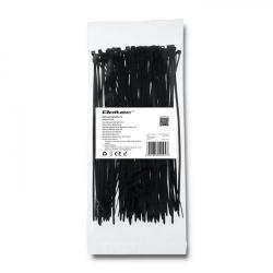 Organizator cabluri Qoltec 52194, 100buc, Black