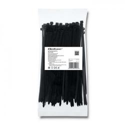 Organizator cabluri Qoltec 52204, 100buc, Black