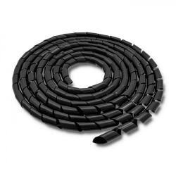 Organizator cabluri Qoltec 52253, 12mm, 10m, Black