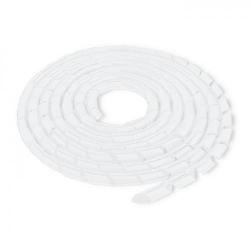 Organizator cabluri Qoltec 52260, 10m, Transparent