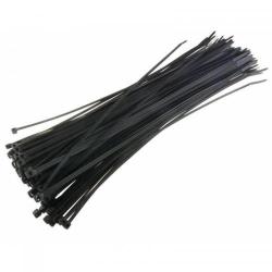 Organizator cabluri Techly 306356, 100buc, Black (Bride)