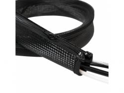 Organizator flexibil cabluri Logilink, Black KAB0049