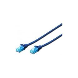 Patchcord Digitus DK-1512-0025/B, UTP, CAT5E, 0.25m, Blue