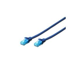 Patchcord Digitus DK-1512-010/B, UTP, CAT5e, 1m, Blue