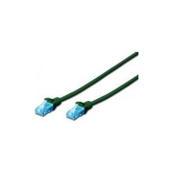 Patchcord Digitus Premium, U/UTP, CAT5e, 0.25m, Green