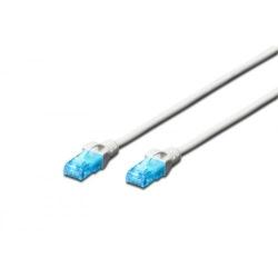 Patchcord Digitus Premium, U/UTP, CAT5e, 0.5m, White