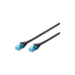 Patchcord Digitus Premium, UTP,  CAT5e, 0.25m, Black