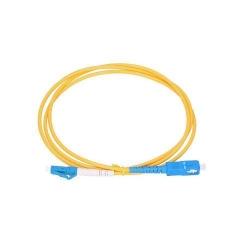 Patchcord ExtraLink, SM G.652D SIMPLEX 3.0MM, LC/UPC-SC/UPC, 2m, Yellow