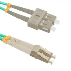 Patchcord Optic Qoltec 54352, LC/UPC - SC/UPC, 10m