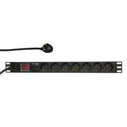 PDU Logilink PDU7C01, 1U pentru rack 19inch, 7x Schuko, 2m, BLack