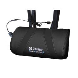 Perna masaj gaming Sandberg, USB, Black