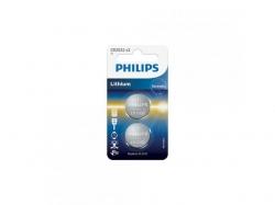 Baterie Philips Lithium, 2x 3V/CR2032, Blister