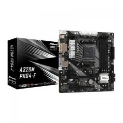 Placa de baza ASRock A320M PRO4-F, AMD A320, socket AM4, mATX