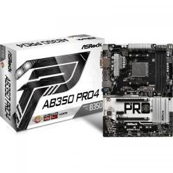 Placa de baza ASRock AB350 Pro4, AMD B350, socket AM4, ATX