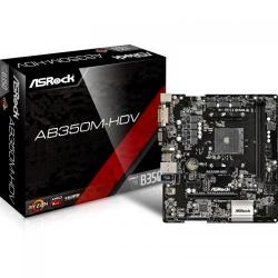 Placa de baza ASRock AB350M-HDV, AMD B350, Socket AM4, mATX