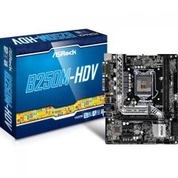 Placa de baza ASRock B250M-HDV, Intel B250, Socket 1151, mATX