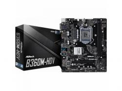 Placa de baza ASRock B360M-HDV, Intel B360, Socket 1151 v2, mATX