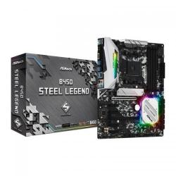 Placa de baza ASRock B450 Steel Legend, AMD B450, Socket AM4, ATX