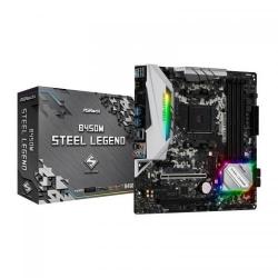 Placa de baza ASRock B450M Steel Legend, AMD B450, Socket AM4, mATX