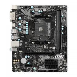 Placa de baza MSI A320M-A PRO, AMD A320, Socket AM4, mATX