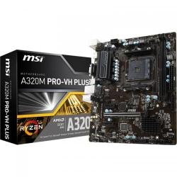 Placa de baza MSI A320M PRO-VH PLUS, AMD A320, socket AM4, mATX