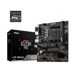 Placa de baza MSI A520M PRO, AMD A520, socket AM4, mATX