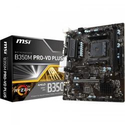 Placa de baza MSI B350M PRO-VD PLUS, AMD B350, Socket AM4, mATX