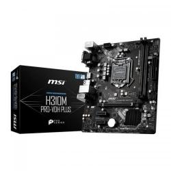 Placa de baza MSI H310M PRO-VDH PLUS, Intel H310, Socket 1151 v2, mATX