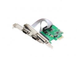 Placa PCI Express la paralel si 2 x RS232 PCIE-RS232X2/PARALEL-BX
