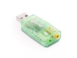 Placa sunet USB 2.0 A tata la 2 x 3.5mm stereo jack ESO01