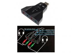 Placa sunet USB 2.0 A tata la 4 x 3,5mm stereo jack PD560