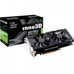 Placa video Inno3D nVidia GeForce GTX 1060 Twin X2 3GB, DDR5, 192bit