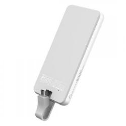Baterie portabila Hame P1-TY1, 8000mAh, 1x USB, 1x USB-C, White