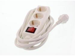 Prelungitor 3cai 3M cu intrerupator, 3xG1.5mmp, Well; Cod EAN: 5948636005691