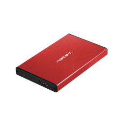 Rack HDD Natec Rhino Go, SATA - USB 3.0, 2.5inch, Red