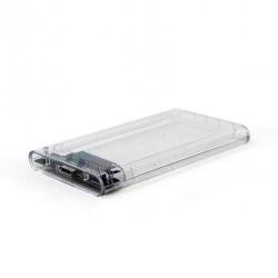Rack HDD/SSD Gembird, SATA - USB 3.0, 2.5inch, Transparent