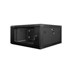 Rack Lanberg wall-mounted, 19inch, 4U, 600x600mm, Black