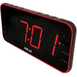 Radio cu ceas Akai ACR-3899, Black-Red