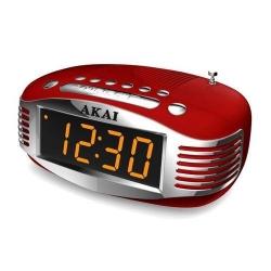 Radio cu ceas Akai CE-1500, Red-Silver
