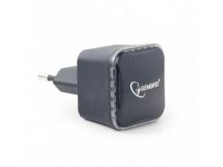 Range Extender Gembird, 300 Mbps + LAN, Black