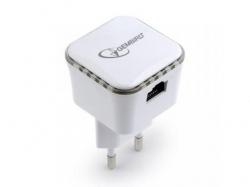 Range Extender Gembird, 300 Mbps + LAN, White